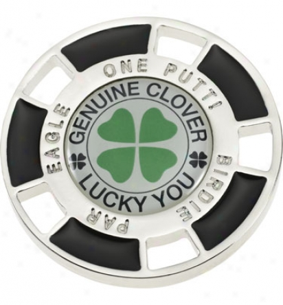 Good Luck Brand 4 Leaf Clover Chip Ball Marker