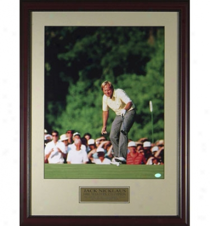 Gotta Have It Golf Jack Nicklaus - 1986 Masters In.the Putt In. Framed Photo