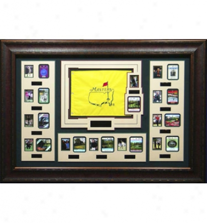 Gotta Have It Golf Masters 12 Year Badge, 2000-2011 Commemorative Display