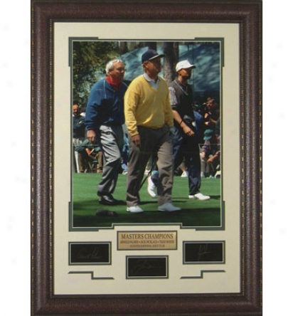 Gotta Have It Golf Palmer, Nicklaus, Woods - Masters Laser Engraved Signature Display