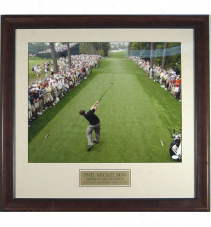 Gotta Have It Golf Phil Mickelso In.down The Fairway In. 2004 Masters Display Photo