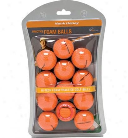 Hank Haney Foam Practice Balls 12 Ct