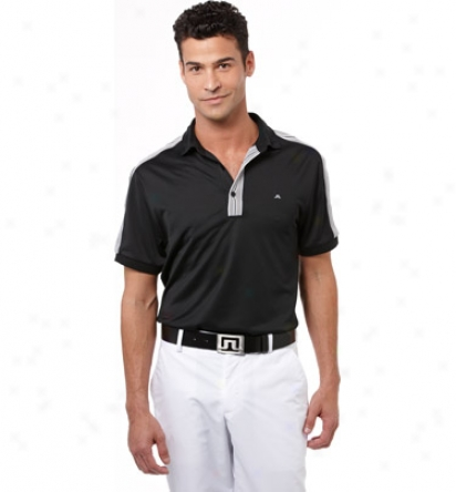 J. Lindebe5g Mens Vinson Wicking Polo
