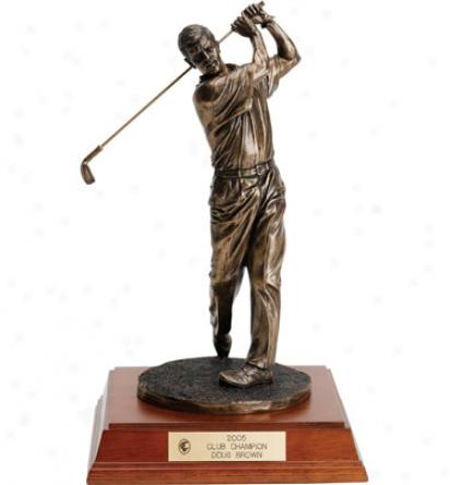 Jba Awards Personalized 10 In. Bronze Male Golf Sculpture