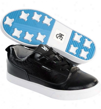 Kikkor Golf Mens Dress Sneaker Waterproof Golf Shoes - Midnight