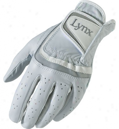 Lynx Womens Crystal Cat Leather Glove