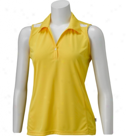 Maggie Lane Womens Sleevelless Shoulder Detail Polo