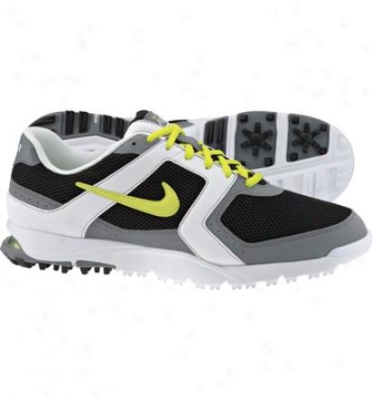 Nike Mens Air Range Wp - Black/cyber/whit3 Golf Shoes