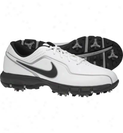Nike Mens Durasport - White/black/metallic Silver Golf Shoes