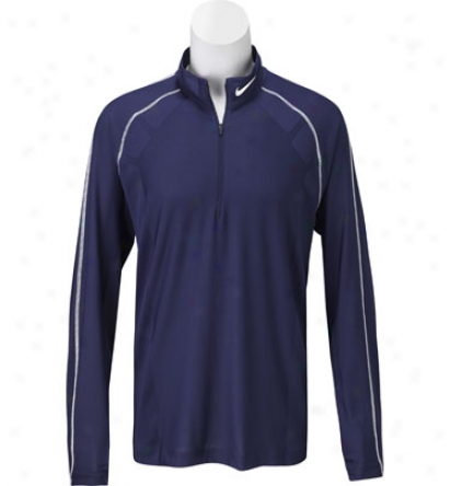 Nike Mens Tour Dri-fit Half-zip Method Mock
