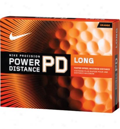 Nike Power Distance Long Orange Golf Balls