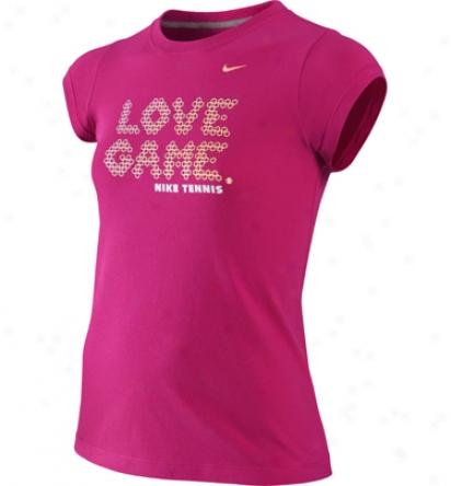 Nike Tennis Junior Girls Love Game Tee