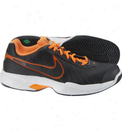 Nike Tennis Mens Air Court Mo Iv - Antracite/orange Tennis Shoes