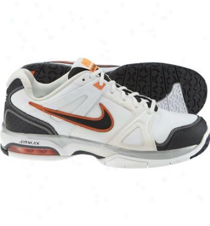 Nike Tennis Mens Air Max Global Court - White/grey/orange Tennis Shoes