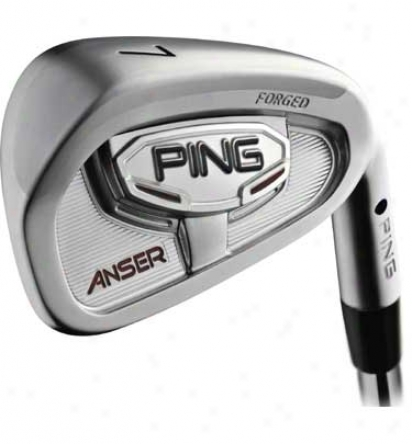 Preowned Ping Pre-owned Anser 3-pw Iron Set With Steel Shafts
