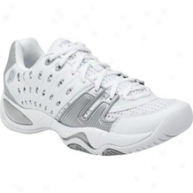 Prince Womens T-22 Tennis Shoes (white/silver)