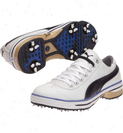 Puma Mens Club 917 - Black/puma Silver/strong Blue Golf Shoes