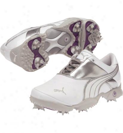 Puma Womens Jigg - White/puma Silver/grey Violet Golf Shoes