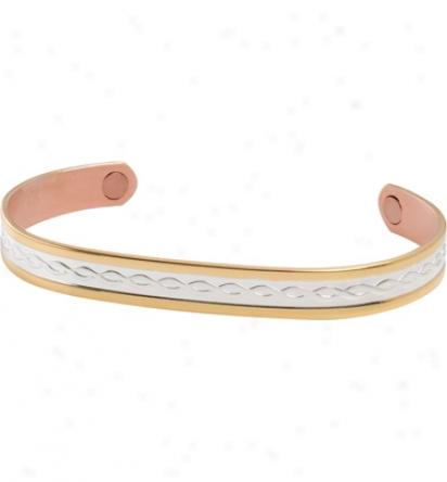 Sabona Gold/silver Tudor Duet Magnetic Bracelet