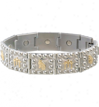 Sabona Horse Head Crosses Duet Magnetic Bracelet