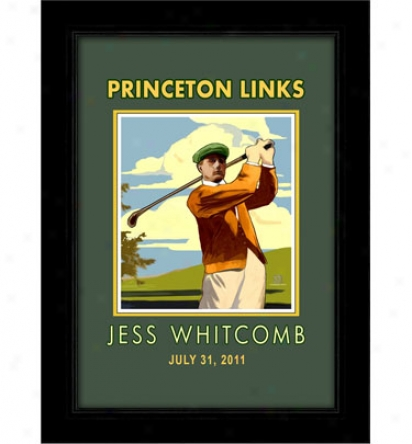 Solitice Arts Personalized In.golfer In. Vintage Style Print (19.5 In. X 26.5 In.)