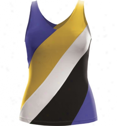 Tail Tennis Womens Diagoonal Stripe Colorblock Tank