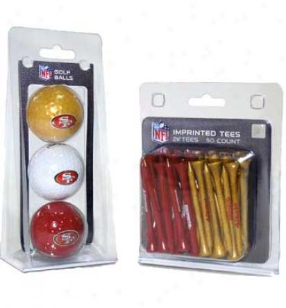 Team Golf Nf 3 Ball & 50 Tee Pack Gift Set