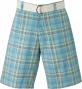 Berle Mens Plaid Shorts With Free Belt