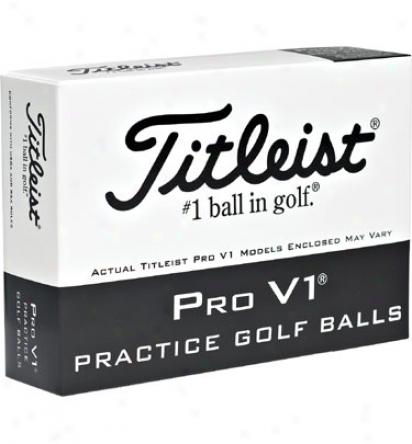 Tutleist Pro V1 Practice Golf Balls