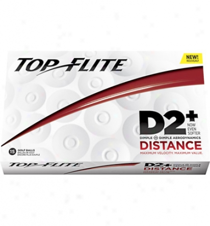 Top Flite D2+ Distance Golf Balls