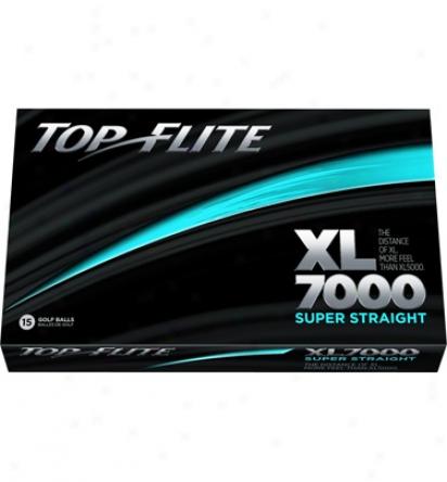 Top Flite Xl7000 Super Straight Golf Balls - 15-pack