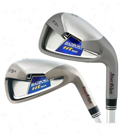 Tour Edge Lady Bazooka Ht Max Iron Set 5-sw With Graphite Shafts