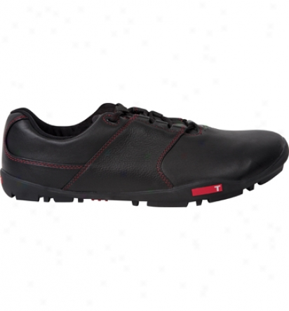 True Linkswera Mens True Tour - Black/black Golf Shoes