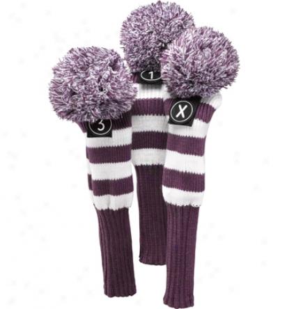 Ztech Ladies 3 Pack Purple Headcovers